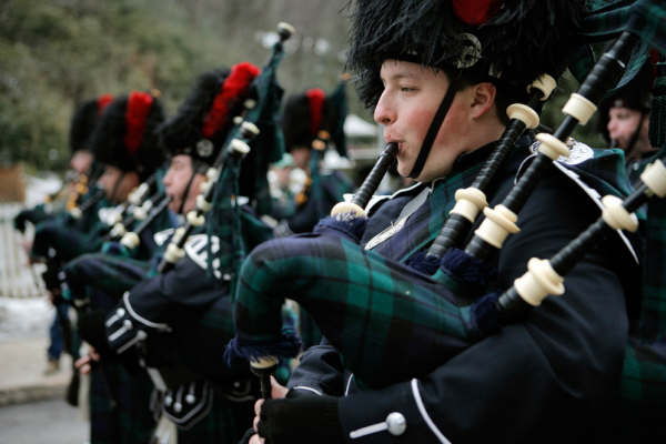 pipers in the Jim Thorpe parade