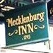 Sign at the Mecklenburg Inn in                           Shepherdstown, WV as seen in American Public                           House Review