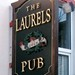 Sign at The Laurels Pub in Killarnrey, County Kerry, Ireland as seen in American Public House Review