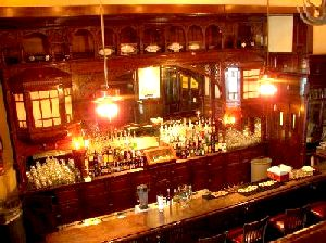 Backbar at the                                             Menger Hotel in San Antonio,                                             TX as seen in American                                             Public House Review