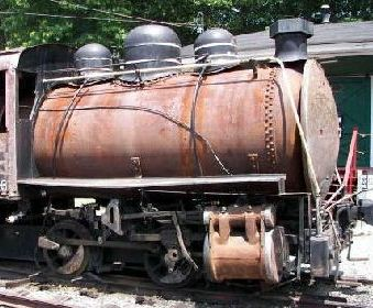 Rusty locomotive tank as seen in American Public House Review